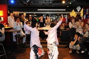六本木,結婚パーティーでパフォーマンス !