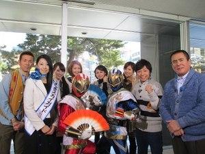 マハトマパンチ生出演に茨城キャンペーンin札幌