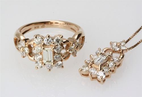 個性的なダイヤモンドカット バゲットカット