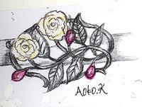 薔薇(ばら)珊瑚の帯留