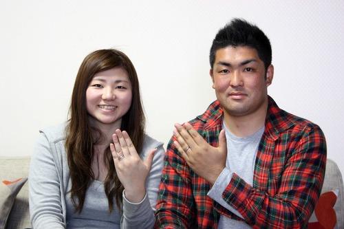 地元桜川市より結婚指輪を♪