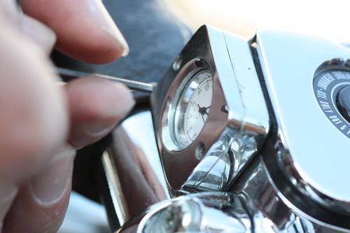 ハーレーバイクの電池交換?