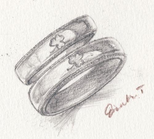 ミルグレインの結婚指輪(ペアーリング)アイルランド柄