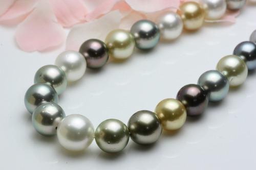真珠のカラーグラデーション