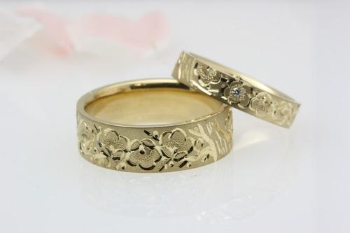 結婚指輪(ペーリング) 梅