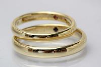 ゴールドの結婚指輪 2011/07/11 09:14:06