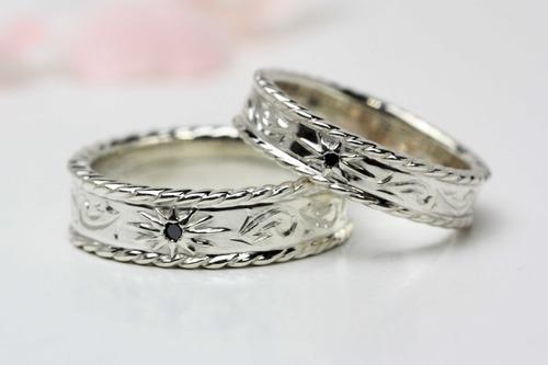 シルバー素材の結婚指輪