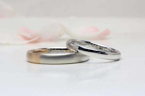 ピンクゴールド使用の結婚指輪