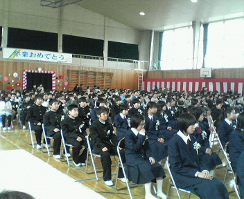 桜川市 岩瀬小学校 卒業式