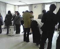 昨年の岩瀬高校での採寸会の様子です。