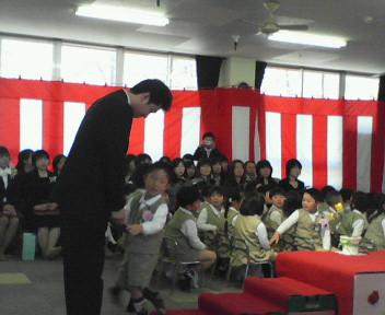 桜川市星の宮幼稚園の卒業式