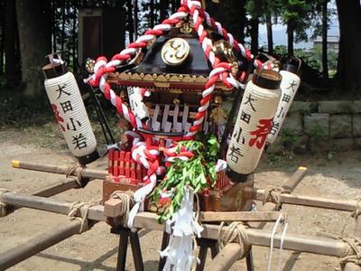 犬田八坂神社の御神輿