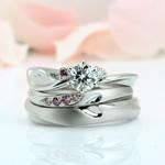 1. ハートダイヤモンドリング セット