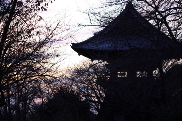 雨引山楽法寺☆秋の夕焼け
