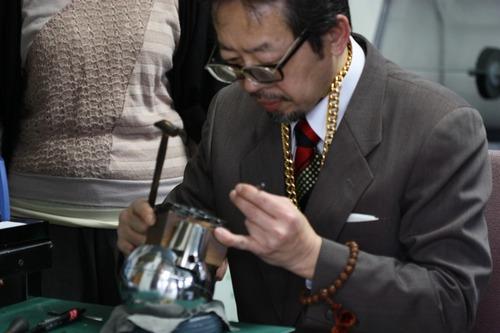 手彫り(カービング)の名人☆佐藤正義先生の来店