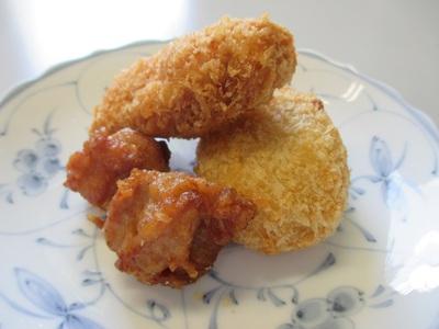 鶏から、トリコロッケ、チキンカツ