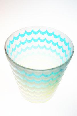 ウェイブグラス ブルー