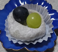 [秋の新作和菓子] 巨峰大福|蕨市の餅菓子 和菓子