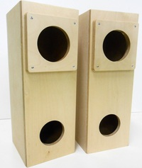 【良質な低音を再生♪】ダブルバスレフ型エンクロジャー DB-1012RB-Y