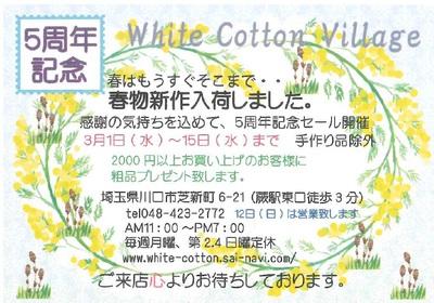 5周年記念セール(平成29年3月1日-19日)