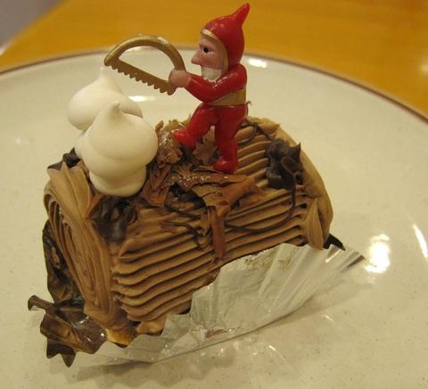 小さなクリスマスの薪(まき)