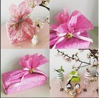 お雛様のお花見とラッピング|蕨・さいたま ラッピング