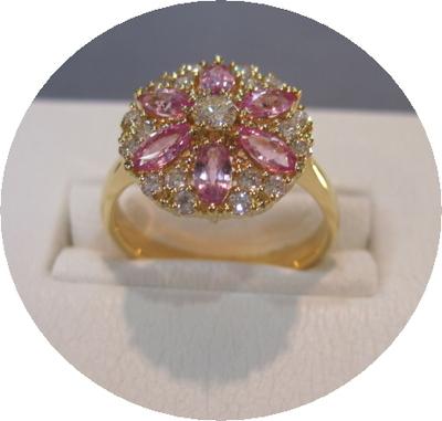 ピンクサファイヤダイヤリング