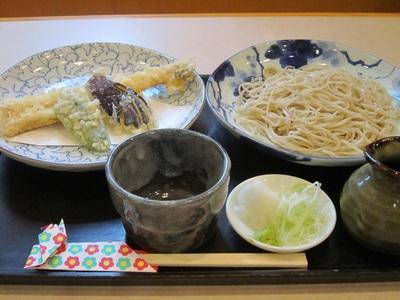 穴子(アナゴ)てんぷら蕎麦