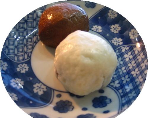 茶饅頭、白饅頭