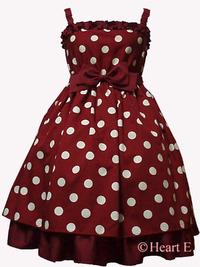 Heart E定番のPOPな水玉フリルとリボンのドレスです♪♪