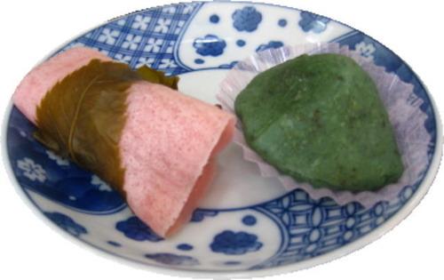 桜餅、草餅