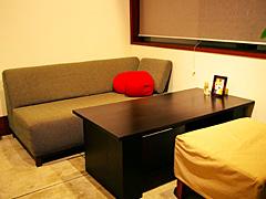 ゆったりとしたソファー