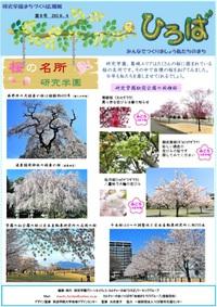 研究学園まちづくり広報紙「ひろば」第8号発行!研究学園の桜紹介!