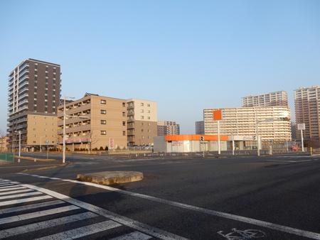 【今昔54】研究学園南(ソフトバンク前)交差点から研究学園駅を見た!