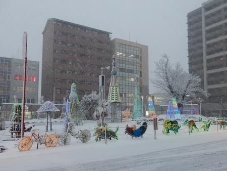研究学園駅前イルミネーションは今日2/23で終了します!