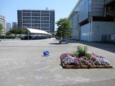 研究学園駅前の花壇・プランタが規程です!