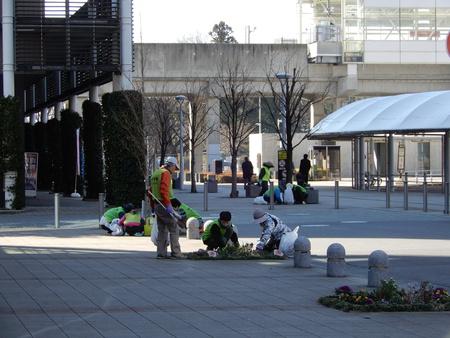 3月定例作業で研究学園駅周辺を綺麗にしました!