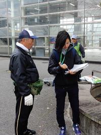 つくば市市民活動課がグリーンの会の花の植え替えを取材に来た!