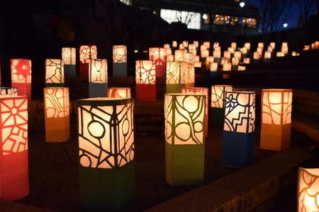 ランタンアート素晴らしかった!トワイライト音楽祭の竹灯ろうもあった!