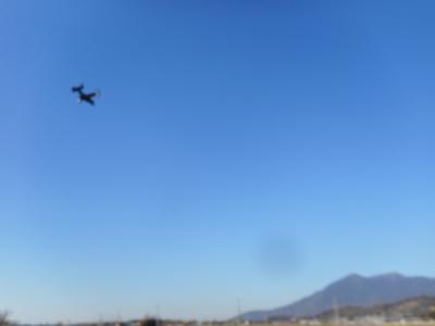 筑波山の上空オスプレイが飛んで