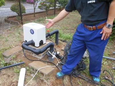宇田川コーポレーションで井戸ポンプ対応