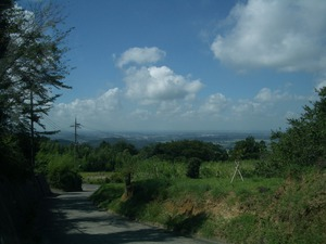 筑波山アンミツと風景